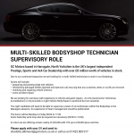 Multi-skilled Bodsyshop Technician – Supervisory Role