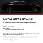 Receptionist - Part Time