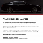 Trainee Business Manager Vacancy